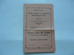 VIEUX PAPIERS - AUTOS-CAR DE LUXE : Société Auxiliaire De Transport Automobiles De L'Est - S.A.T.E. 1932 - Europa