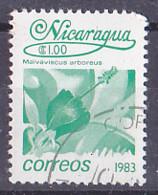 Nicaragua - 1983 - Flora Flores Fleurs - Orquideas Malvaviscus Arboreus - Y&T 1255 - Oblitéré, Used, Usato - - Nicaragua