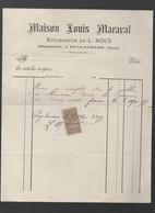 Puylaurens (81 Tarn) Facture  1897  MAISON LOUIS MARAVAL Mécanicien, Avec Trimbre Fiscal 10c (PPP31645) - 1800 – 1899