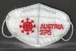 Österreich 2021 Anti Covid FFP2 Mini Stoffmaske ** Postfrisch Selbstklebend Ca. 7 X 4,5 Cm Groß - 2011-2020 Unused Stamps