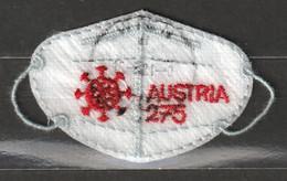 Österreich 2021 Anti Covid FFP2 Mini Stoffmaske Gestempelt Selbstklebend Ca. 7 X 4,5 Cm Groß (II) - 2011-2020 Used