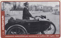VIACARD AUTOSTRADE CANTONIERE MOTOCICLISTA PER ASSISTENZA AL TRAFFICO MILANO LAGHI 1924 - Other