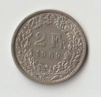 Schweiz 2 Franken 1969 B - Zwitserland