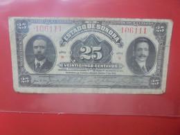 """MEXIQUE 25 Centavos 1915 Série """"B"""" Circuler (B.24) - Mexico"""