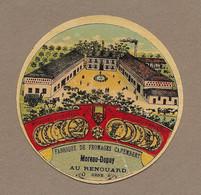 ETIQUETTE De FROMAGE.. Petit.. Fabrique De FROMAGES CAMEMBERT..MOREAU-DUPUY à LE RENOUARD ( Orne 61) - Cheese