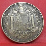 2.5 Pesetas 1953 étoile 54 - TB+ - Ancienne Pièce De Monnaie Espagne Collection - N20981 - 2 Pesetas