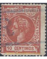 Ref. 654536 * USED * - SPANISH GUINEA. 1905. SELLOS DEL 1903 CON MILESIMAS, CFRA DE CONTROL - Guinée Espagnole