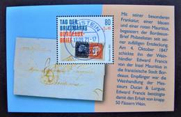 "Bund/BRD September 2021,  Block 88 ""Tag Der Briefmarke-Bordeaux-Brief"", MiNr 3623, Gestempelt - Gebruikt"