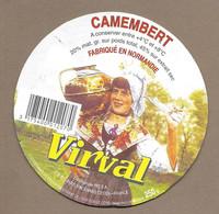 ETIQUETTE De FROMAGE Cartonnée.. CAMEMBERT Fabriqué En NORMANDIE.. Virval - Cheese