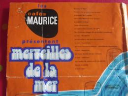 """32 Images Plastifiées, Collection """"merveilles De La Mer"""". Cafés Maurice, Café + Poster Collecteur, Album. Vers 1960-70 - Other"""