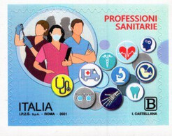 Italy - 2021 - Tribute To Health Professionals - Mint Self-adhesive Stamp - 2011-...: Poststempel