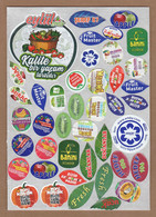 AC - FRUIT LABELS Fruit Label - STICKERS LOT #112 - Fruits & Vegetables