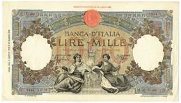 1000 LIRE CAPRANESI REPUBBLICHE MARINARE FASCIO L'AQUILA 06/08/1943 BB+ - Regno D'Italia – Other