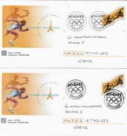 """2004 Entiers Postaux """"Passage De La Flamme Olympique Vers Athènes"""": Paris Et Colombes - Summer 2004: Athens"""