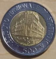 ITALIA REPUBBLICA LIRE 500  ANNO 1996 ISTAT - 500 Lire