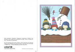 Children's Drawings - UNICEF Double Postcard - Kinder-Zeichnungen