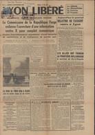 Journal Lyon Libéré N°3 5 9 1944 Libération YT Mayer Mercure 5M CAD Rectangulaire Lyon Libéré 2 9 44 - Liberation