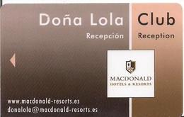 MACDONALD HOTELS  & RESORTS.ES - Chiavi Elettroniche Di Alberghi