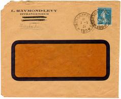 Brief Aus Dem Von Frankreich Besetzten Wiesbaden Mit Tresor Postes 180 (Feldpost) Vom 7.9.1923. - Cartas