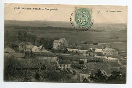 51 CHALONS Sur VESLE Les Maisons Du Bourg Vue Haute écrite Timbrée 1907    D11 2019 - Andere Gemeenten