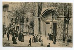 64 ST SAINT JEAN De LUZ Sortie De L'Eglise Anim 1905 écrite Timb Edit Villatte   D13 2019 - Saint Jean De Luz