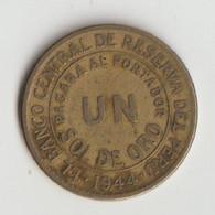 Peru 1 Sol De Oro 1944 - Peru