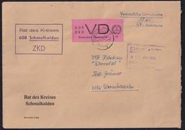 DDR. ZKD-Brief Mit EF. Mi.-Nr. VD 2 - Servizio