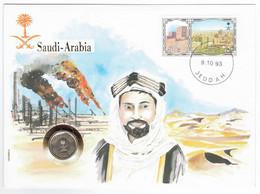 Saudi Arabia Stamp & Coin Cover - 1993 - Arabie Saoudite