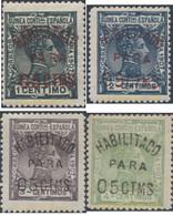 Ref. 654541 * HINGED * - SPANISH GUINEA. 1908. SELLOS DE 1907 SOBRECARGADOS. HABILITADO PARA 05CTMS - Guinée Espagnole