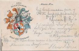 Münster I.W., Guestphalia - Studentika, Couleurkarte - Allzeit Dem Vaterlande, Vollstempel 1903 - Muenster