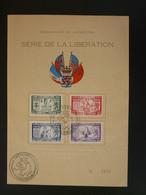 Feuillet FDC Série De La Libération Luxembourg 1945 - Covers & Documents