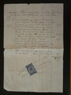 Timbre Fiscal 10c Sur Quittance 1874 - Revenue Stamps
