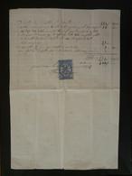 Timbre Fiscal 10c Sur Quittance 1873 - Revenue Stamps