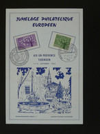 Feuillet Jumelage Philatélique Européen Aix En Provence Tubingen Europa 1962 - 1962