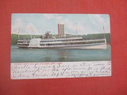 Hudson River Day Line  Steamer New York    Ref 5165 - Passagiersschepen