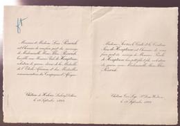 ADEL NOBLESSE = L.POSWICH - ZIJN DOCHTER FELICE PIWICK MET M. PAULO De HEMPTINNE   1922 - Wedding