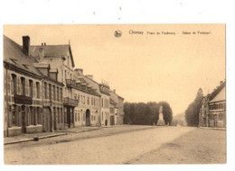 CHIMAY - Place Du Faubourg - Statue De Froissard - Non Envoyée - édition: Sebille Gillet - Chimay