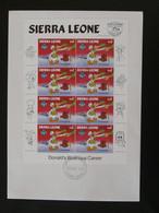 FDC Disney Donald Duck Feuillet Miniature Sheet Sierra Leone 1984 - Disney