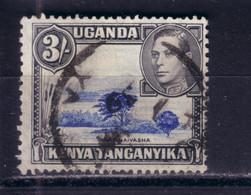 TANGANYIKA KENYA UGANDA 1938  KGVI 3/-/ Mi 68 USED GESTEMPELT - Kenya & Uganda