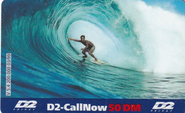 GERMANY - Surf, D2 Prepaid Card 50 DM, Exp.date 04/01, Used - Sport