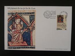 Carte Maximum Card (14x21cm) 800 Ans Cortes De Leon Lion Medieval History Espagne Spain 1988 - Cartes Maximum