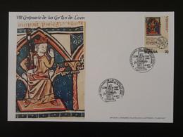 Carte Maximum Card (14x21cm) 800 Ans Cortes De Leon Medieval History Espagne Spain 1988 - Cartes Maximum