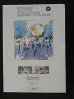 Feuillet FDC Handball Fur Den Sport Allemagne Germany 1990 - Balonmano