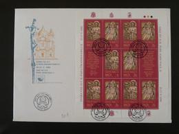 FDC Bloc Sheetlet Visite Pape Jean Paul II Pope John Paul II Malte Malta 1990 - Papes
