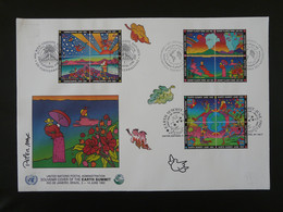 FDC Earth Summit Peinture Peter Max Nations Unies United Nations 1992 (charnières Adhérentes Au Verso) - Protezione Dell'Ambiente & Clima