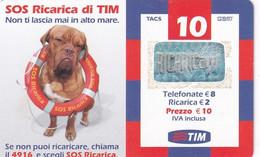 ITALY - Dog, SOS Ricarica, TIM Prepaid Card 10 Euro, Exp.date 07/07, Used - Cani