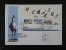 FDC Bloc Miniature Sheet Grue Crane Allemagne Germany 1996 - Kranichvögel