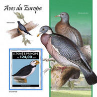 S. Tomè 2021, Animals, Birds Of Europe, Pigeons, BF - Columbiformes