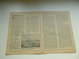 """Origineel Knipsel ( 4853 ) Uit Tijdschrift """" Toerisme """" 1936 :  Herdersem  Abdij Lobbes  Abdij Van Affligem - Sin Clasificación"""