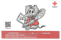3130x: Österreich, Kleinpostamt 7132 Frauenkirchen, Weinbau- Marke, Covid- Impfung, Babyelefant 14.08.21 - Farmacia